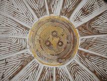 Modèle en bois de tournesol Photos stock