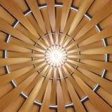 Modèle en bois radial Image stock