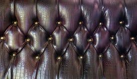 Modèle en cuir de tapisserie d'ameublement photo stock