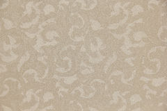 Modèle en filigrane de feuille beige crème traditionnelle de couleur Photos libres de droits