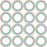 Modèle en pastel de vecteur de cercle d'arc-en-ciel illustration libre de droits