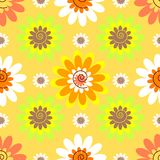 Modèle en pastel floral sans couture abstrait photos stock