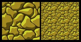 Modèle en pierre approximatif d'or illustration libre de droits