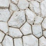 Modèle en pierre extérieur de plan rapproché au vieux mur en pierre à l'arrière-plan de texture de jardin Photos stock