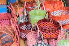 Modèle en plastique de panier de culture de la Thaïlande avec la couleur colorée dans t Photo libre de droits