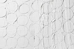Modèle en relief blanc, fond de texture de plâtre Photo libre de droits
