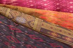 Modèle en soie thaïlandais, style de textile de la Thaïlande Photographie stock