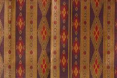 Modèle en soie thaïlandais, style de textile de la Thaïlande Photo libre de droits
