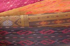 Modèle en soie thaïlandais, style de textile de la Thaïlande Photographie stock libre de droits