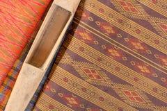 Modèle en soie thaïlandais, style de textile de la Thaïlande Image stock