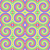 Modèle en spirale coloré sans couture de mouvement de conception Image stock