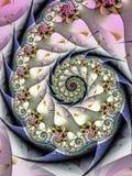 Modèle en spirale lilas Photographie stock