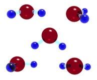 Modèle en verre de H2O Image stock