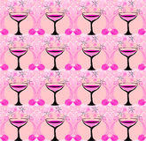 Modèle en verre de vin Photo stock