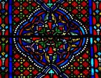 Modèle en verre souillé. Image stock