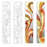 Modèle en verre souillé Images stock