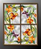 Modèle en verre souillé Photographie stock libre de droits