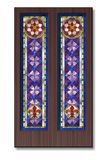 Modèle en verre souillé, ornement gothique Photographie stock libre de droits