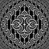 Modèle entrelacé décoratif monochrome de conception Image stock