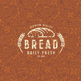 Modèle et emblème sans couture de boulangerie Image libre de droits
