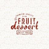Modèle et emblème sans couture de dessert de fruit Image stock