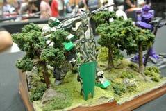 Modèle et jouets mobiles de nombre d'actions de Gundam de costume photographie stock libre de droits
