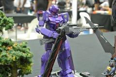 Modèle et jouets mobiles de nombre d'actions de Gundam de costume photos libres de droits