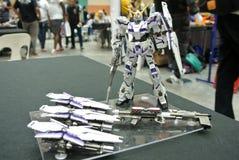Modèle et jouets mobiles de nombre d'actions de Gundam de costume photo libre de droits