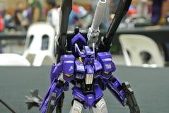 Modèle et jouets mobiles de nombre d'actions de Gundam de costume images libres de droits