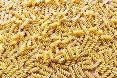 Modèle et texture de pâtes de Fusilli closeup Photo libre de droits