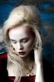 Modèle européen blond Photos libres de droits
