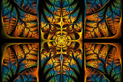 Modèle fabuleux de fractale. Collection - feuillage d'arbre. Image stock