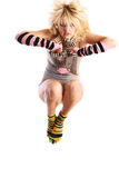 Modèle femelle dans le saut. Photos libres de droits