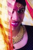 Modèle femelle indien dans le regard indien rural photographie stock libre de droits