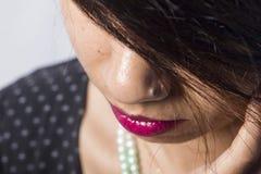 Modèle femelle indien dans le regard indien rural photo stock