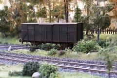 Modèle ferroviaire de chariot image libre de droits