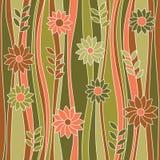 Modèle fleuri abstrait sans couture. Photo stock