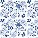 Modèle fleuri de Paisley Photo libre de droits