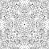 Modèle fleuri monochrome sans couture de vecteur illustration libre de droits