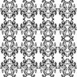 Modèle fleuri noir et blanc Photo stock