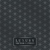 Modèle fleuri sans couture de luxe - texture de gradient de grille Fond foncé de cru illustration de vecteur