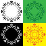Modèle fleuri symbolique royal décoratif géométrique Photographie stock