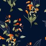 Modèle floral à la mode modèle sans couture d'isolement Fond de cru wallpaper Tiré par la main Illustration de vecteur illustration de vecteur