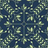 Modèle floral élégant de lineart avec des feuilles Fond de vecteur illustration de vecteur