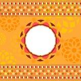 Modèle floral abstrait avec le cadre Photo stock