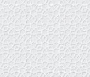 Modèle floral abstrait d'arabesque avec Grey Background léger grunge Photos stock