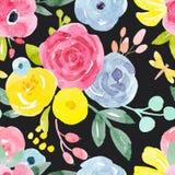 Modèle floral abstrait de vecteur d'aquarelle illustration libre de droits
