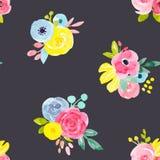 Modèle floral abstrait de vecteur d'aquarelle illustration de vecteur