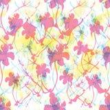 Modèle floral abstrait sans couture de rose et de jaune Photos libres de droits
