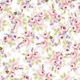 Modèle floral avec de petites roses roses Illustration Stock
